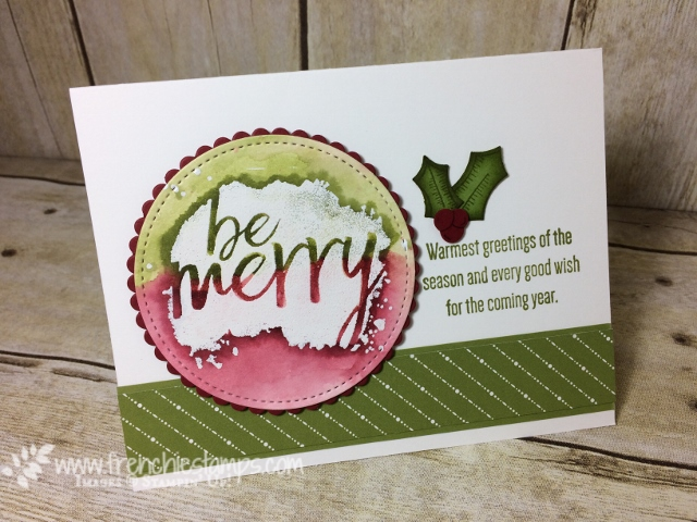 Everyday Good Wish, emboss Resist, Christmas Card, Holly Berry Builder Punch, Stampin'Up!