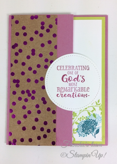 Frenchie' Team, Hold on Hope, Stampin'Up!, Foil Frenzy Designer paper,