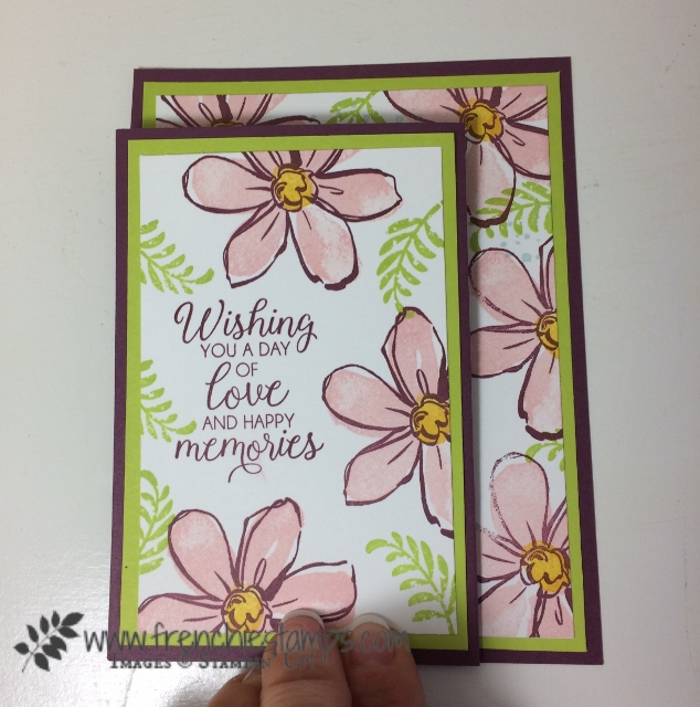 3 panels card, Garden in Blooms, Awesomely Artistic, Beautiful Bouquet, Frenchiestamps, Stampin'Up!
