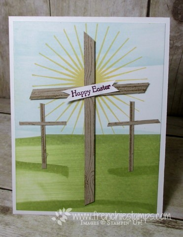 3 Easter Crosses Dragging Ink