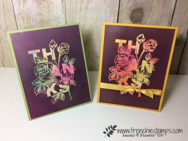 Joseph coat on glossy paper frenchie stamps floral statements joseph coat technique stampinup m4hsunfo