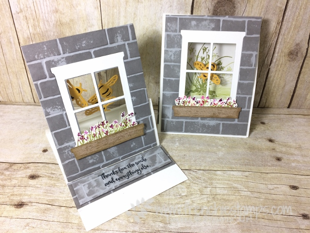 Easel Window Card, Hearht & Home Famelits, Dragonfly Dream Framelits, Stampin'Up