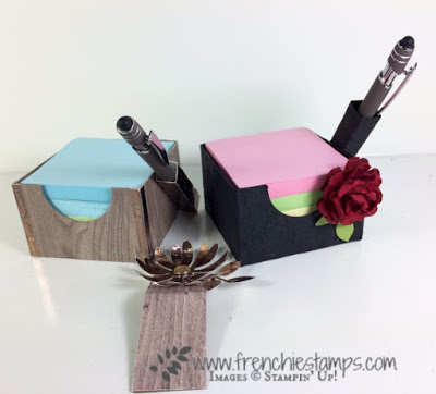 His and Hers Post It Note Cube, DIY, Stampin'Up!, Frenchiestamps,