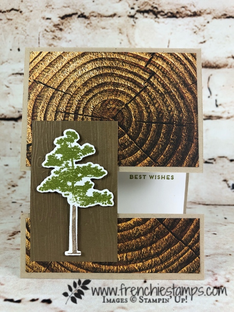 Rooted in Nature Bundle, Panel Card, Wood Texture Designer Paper, Stampin'Up!, Frenchiestamps