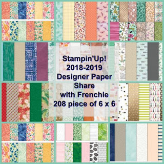 Stampin'Up! 2018-2019 Designer Series Paper Share, Frenchiestamps,