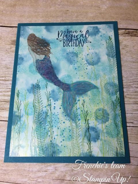 Glossy paper, Magical Mermaid, Stampin'Up!