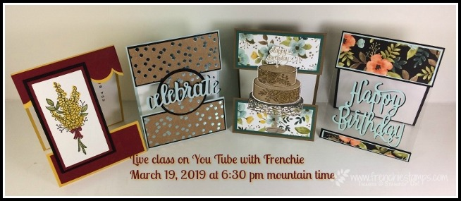 Frenchie Live Class, Open Panel cards, stampin'Up!,