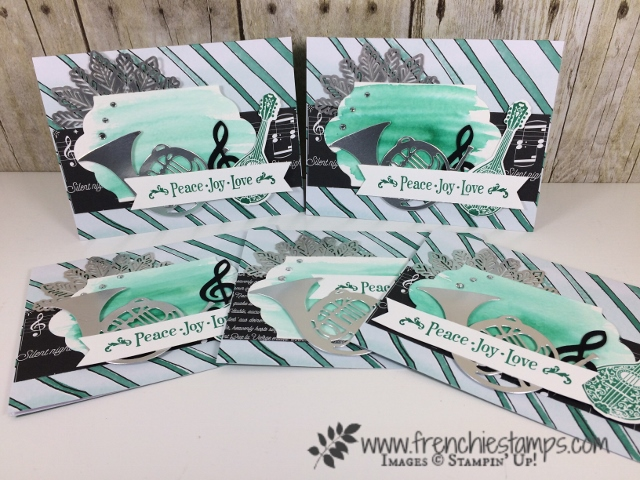 Watercolor Christmas Project, Musical Season, Stampin'Up!, Foil Snowflakes