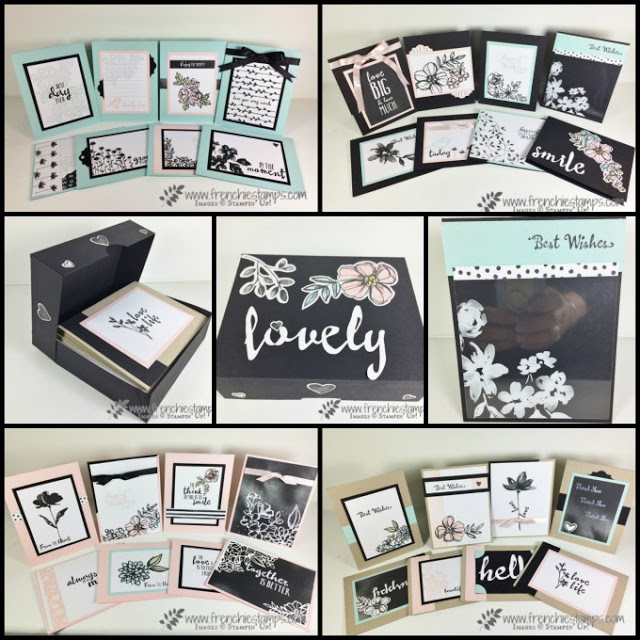 32 cards with Petal Passion Memories Cards, Frenchie Live, Online Class, Stampin'Up!