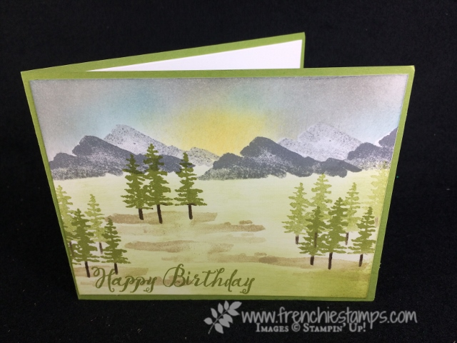 Waterfront, Sunset in the Meadow, Stampin'Up!, Frenchiestamps,