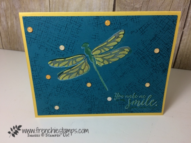 Detailed Dragonfly,embossing Paste, Stampin'Up!