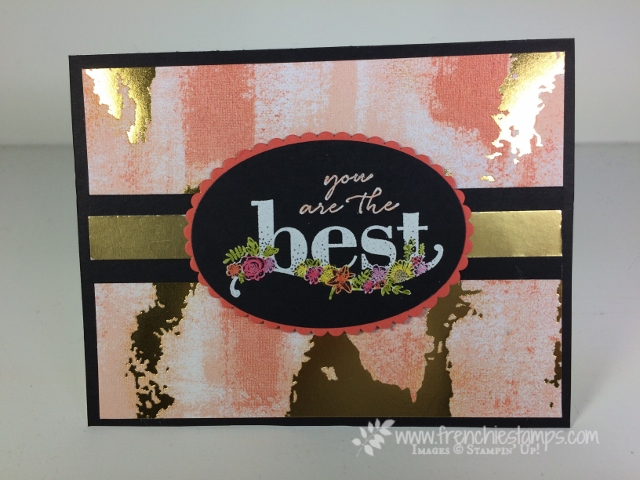 Happy Wishes, Alcohol markers, Technique, Stampin' Blends, Painted with Love designer paper, Stampin'Up!, Frenchie Stamps,