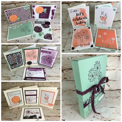 Delightfully Detail 16 cards class PDF, Easy Card Box, Frenchie stamps Class, stampin'Up!