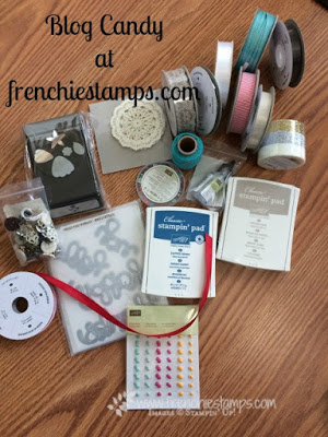 Blog candy at Frenchiestamps, Stampin'Up! product