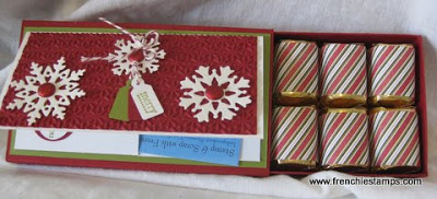 Chocolate nugget box, Gift Card Holder, Stampin'Up!, Frenchiestamps,