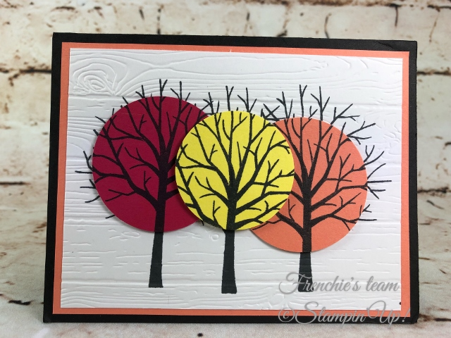 2018-2020 Stampin'Up! in-Colors, Frenchie Team challenge, Sheltering Tree