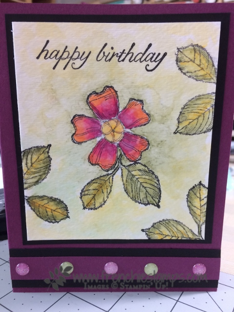 Birthday Blooms, Watercolor Full Canvas, Stampin'Up!, Frenchiestamps,