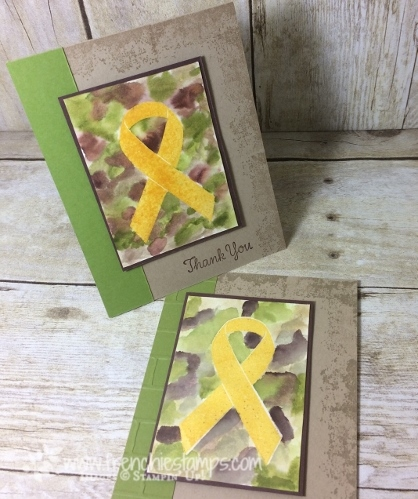 Watercolor Camouflage, Ribbon of Courage, Timeless Texture, Stampin'Up!