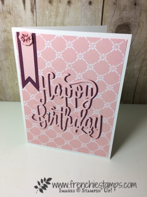 Lovely Friends, Lovey Laurel Thinlites, Happy Birthday Thinlits, Stampin'Up!