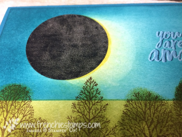 Solar Eclipse, Greeting Card, Solar Eclipse stamping,   Lovely as a Tree, All Things Thanks