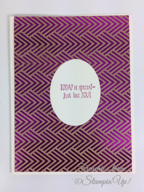 Frenchie' Team, Stampin'Up!, Foil Frenzy Designer paper,