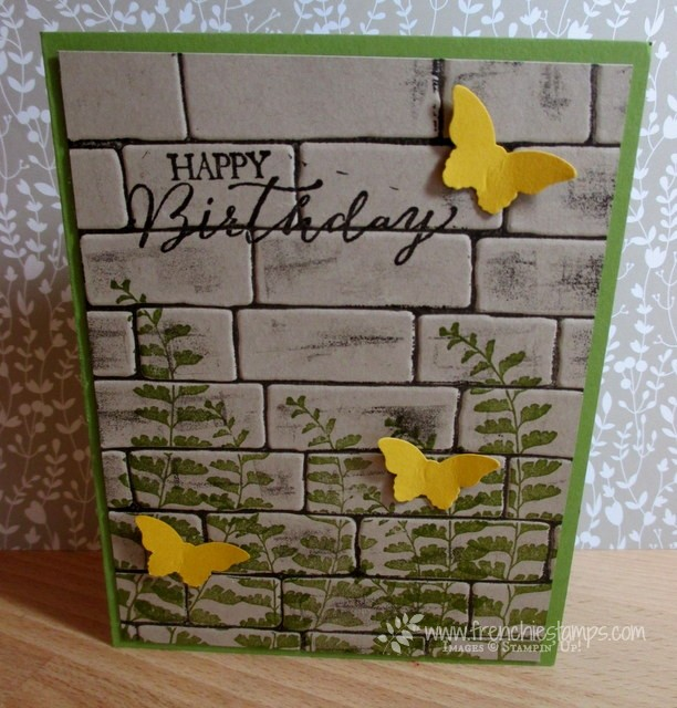Brick Wall embossing folder with ink