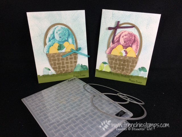 DIY Easter Basket with Basket Weave Folder