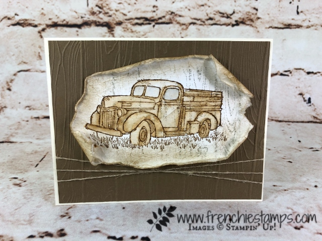 Country Livin', Stampin'Up!, Vintage Watercolor, Frenchiestamps,