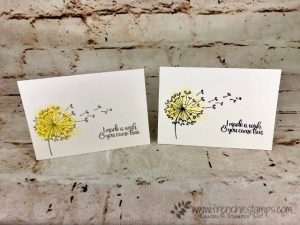 Danelion Wishes, Touch of Textures, Simple Note Card, Frenchie Stamps, Stampin'Up!,