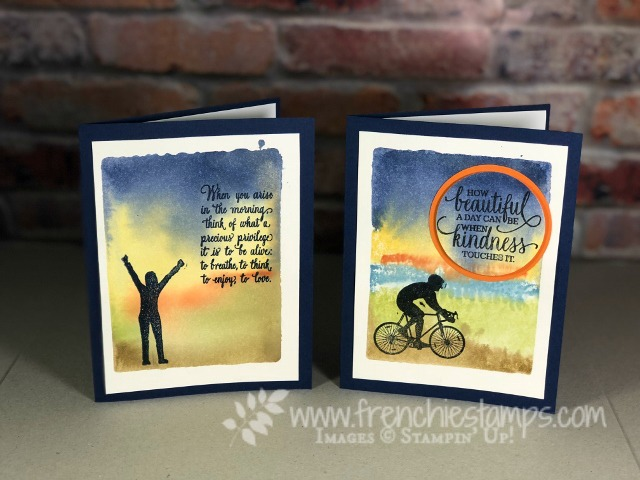 Enjoy Life, Clear Block Ink Background Technique, Frenchiestamps, Stampin'Up!