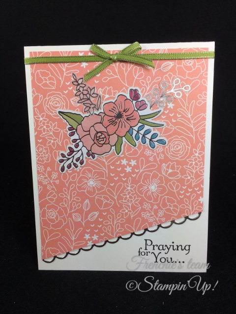 Thoughts and Prayers, Sweet Soiree Embellishment, Stampin'Up!, Frenchie Team