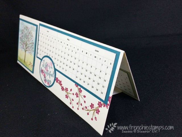 Calendar Class live, 2019 Calendar Desk Top, Easel Calendar, Stampin'Up!
