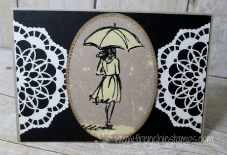 Note card with Lace Doilies
