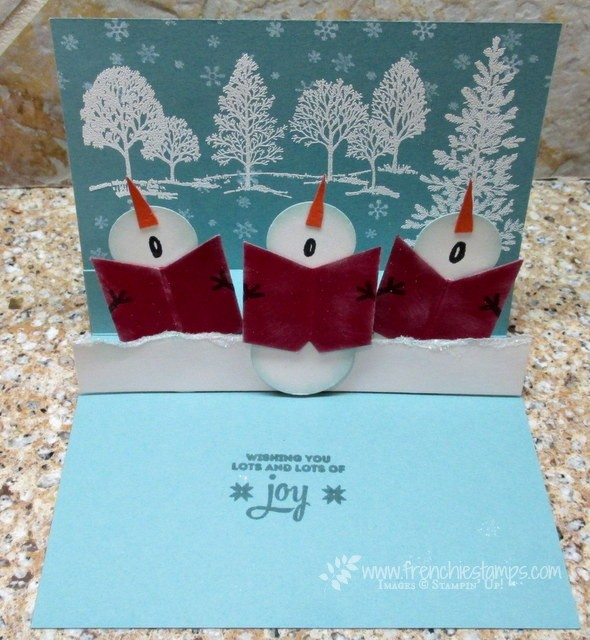 Snowman chorus pop up card frenchie stamps snowman chorus pop up card solutioingenieria Gallery