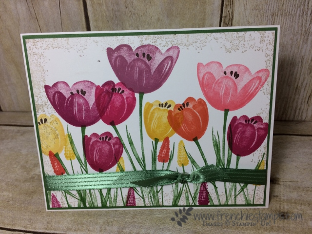 Stampin'Up! Tranquil Tulips Club with Frenchie's Stamps