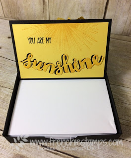 Note Pad Holder, Sunshine Saying, Stampin'Up!