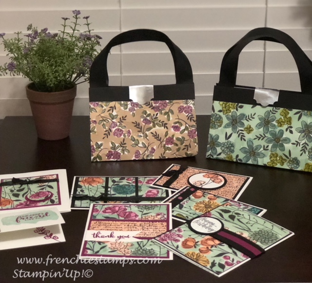One Sheet Wonder, Share What You Love, Paper Purse 12 x 12 , Frenchiestampsp Live Class, Stampin'Up!