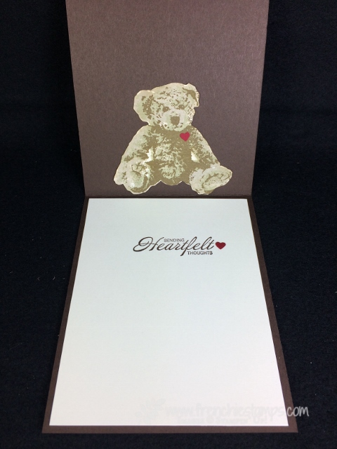 baby bear, Hardwood, Recycle, Cookie Cutter, stampin'Up!
