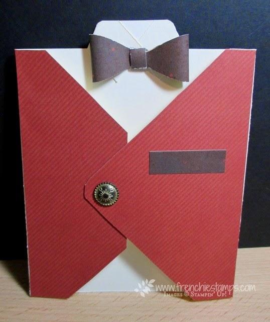 Men Vest Envelope Punch Board