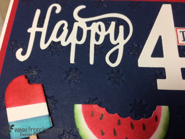 4th of July, Cool Treats, Watermelon punch art, Red White and Blue, Stampin'Up!