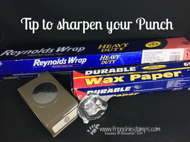 How to Sharpen Stampin'Up! Punches, Frenchiestamps,