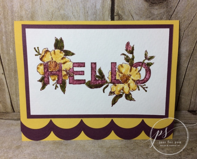 Floral Statements, Watercolor, Stampin'Up!