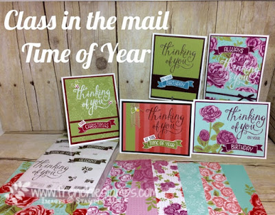 Time of Year, Stamping Class in the mail, Free Shipping Stampin'Up!, Frenchiestamps,
