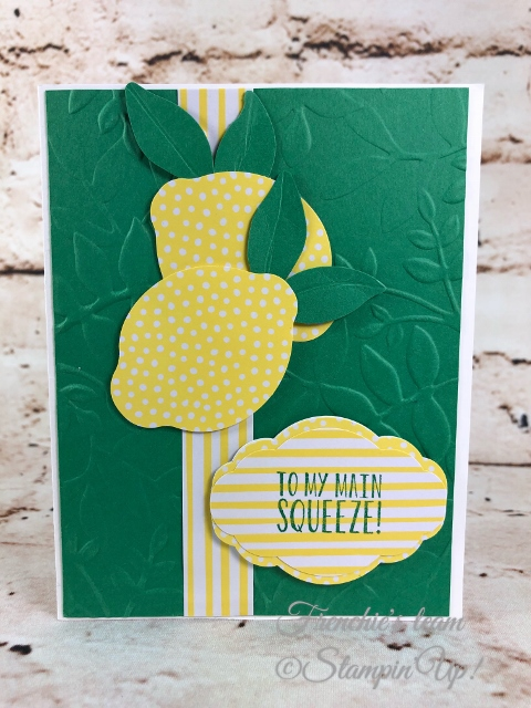 2019-20 Stampin'Up! in-Colors, Frenchie Team challenge, Lemon Zest