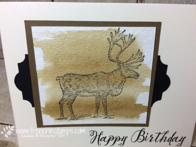 Masculine Card, Nature Sings, Stampin'Up!, Everyday Label Punch, Frenchiestamps