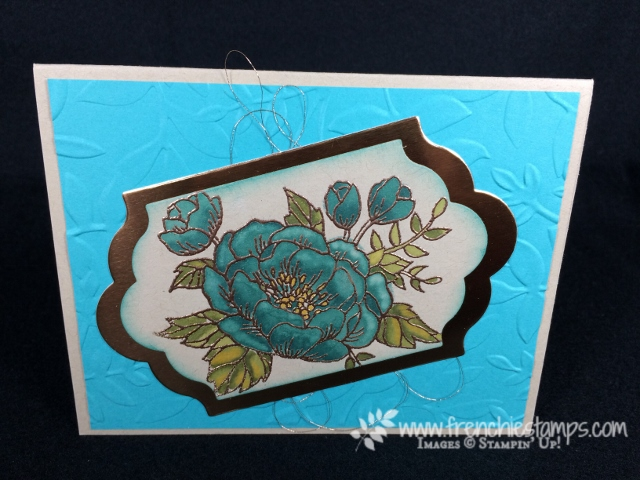Stampin' Blends, Birthday Blooms, Stampin'Up!, Frenchiestamps,
