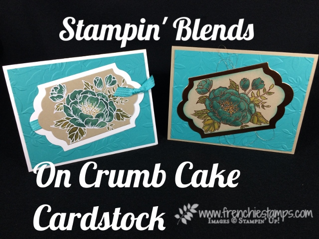 Bermuda Bay Stampin' Blends on Crumb Cake