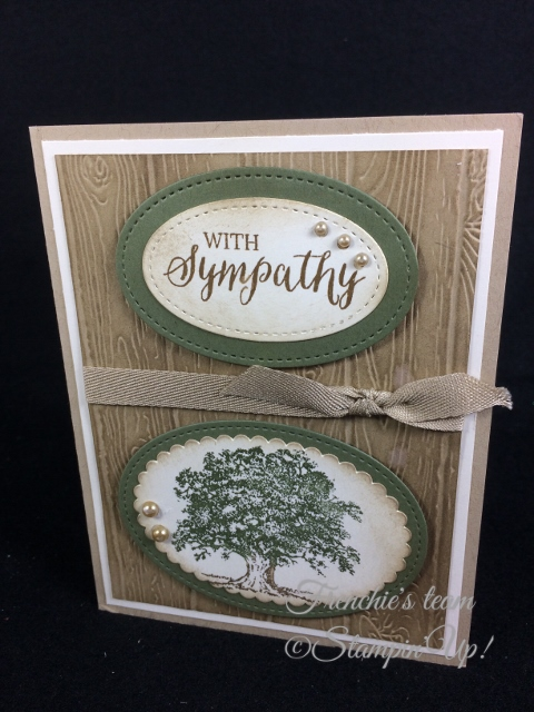 Lovely as a Tree ,  Thoughts and Prayers, Stampin'Up!, Frenchie Team