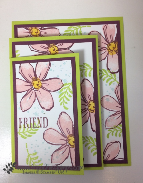 4 panels card, Garden in Blooms, Awesomely Artistic, Beautiful Bouquet, Frenchiestamps, 2017-19 Stampin'Up! in-colors, Stampin'Up!