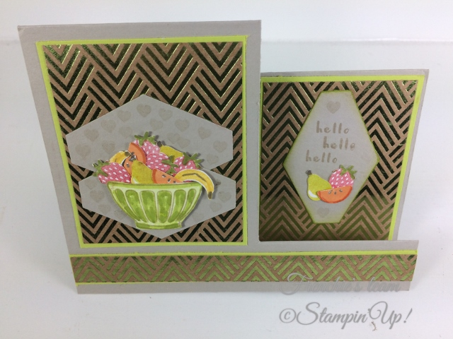 Frenchie' Team, Fruit Basket, Stampin'Up!, Foil Frenzy Designer paper,